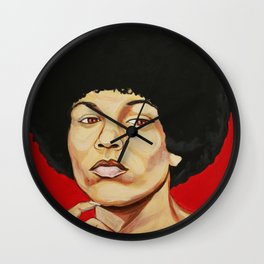 "Angela Davis ""Revolutionary"" Wall Clock"