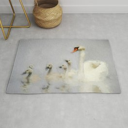 Pen and her Cygnets Rug