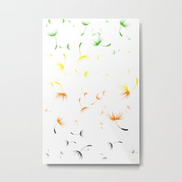 Dandelion Seeds Aromantic Pride (white background) Metal Print