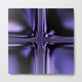 Purple Windowpane Metal Print
