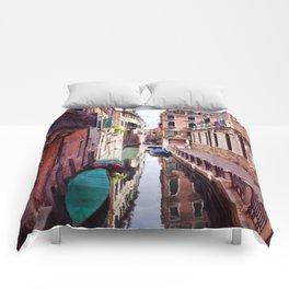 Get Lost In Venice Comforters