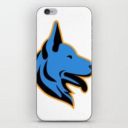 German Shepherd Dog Side Mascot iPhone Skin