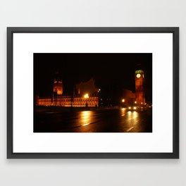 Big Ben - Night Lights Framed Art Print