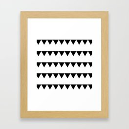 TRIANGLE BANNERS (Black) Framed Art Print