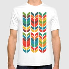 Tulip White X-LARGE Mens Fitted Tee
