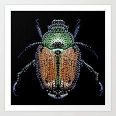 Japanese Beetle Bedazzled Art Print