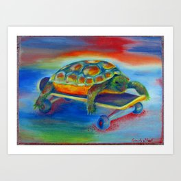 Turtle Dude Art Print
