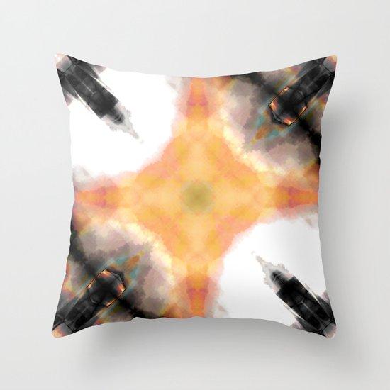 Water Rust Pattern 003 Throw Pillow