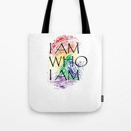 I Am Who I Am Fingerprint Pride Gay Gift Tote Bag