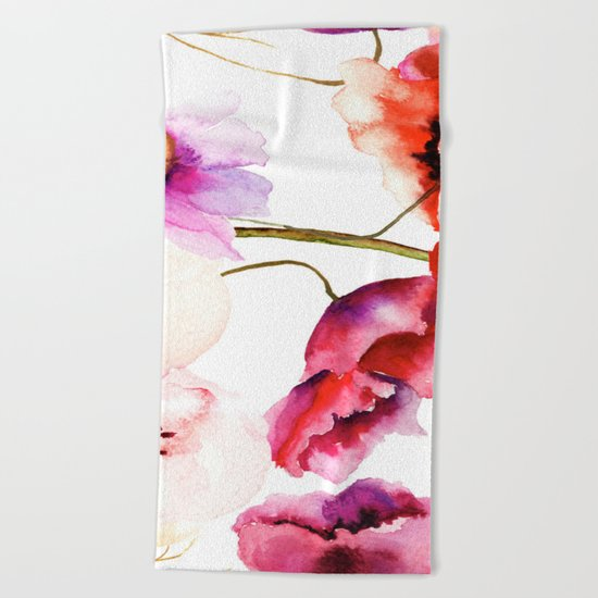 Flowers 02 Beach Towel