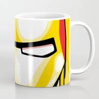 iron man Mugs featuring Iron Man by C.Rhodes Design
