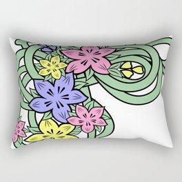 Abstract flowers corner Rectangular Pillow