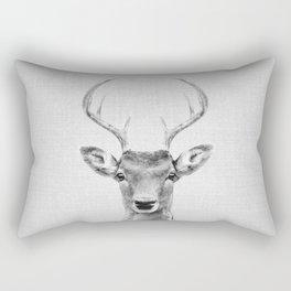 Deer 2 - Black & White Rectangular Pillow