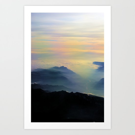 Over the Alps to Venice Art Print