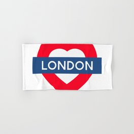 London Underground - Heart Hand & Bath Towel