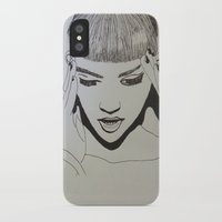grimes iPhone & iPod Cases featuring Grimes by NikkiMaths