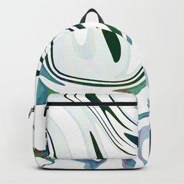 Greed Liquid Marbled Waves Design Backpack