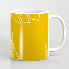 Monstera minimal - yellow Coffee Mug