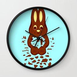 Chocolate Hunting Wall Clock