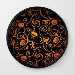 Jack O Lantern Pumpkinhead And Ghost Wallpaper Ultra HD Wall Clock