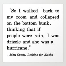 She Was a Hurricane Art Print