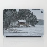 cabin iPad Cases featuring Red Cabin by Accessorius