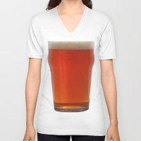 ale giorgini V-neck T-shirts featuring IPA - India Pale Ale  by Et Voilà