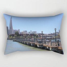 San Francisco Pier Rectangular Pillow