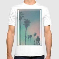 Venice Beach, CA. Mens Fitted Tee MEDIUM White