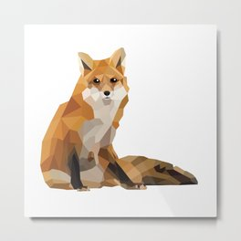 Geometric Fox Metal Print