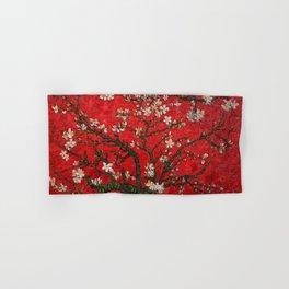 Almond Blossoms Red Vincent Van Gogh Hand & Bath Towel