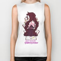 dangan ronpa Biker Tanks featuring touko fukawa- dont touch my manga shirt by zamii070