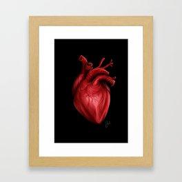 my heart is heavy Framed Art Print