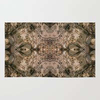 antique Area & Throw Rugs featuring Antique Lace by Klara Acel