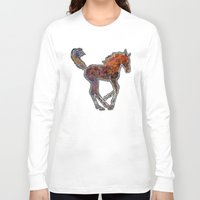 pony Long Sleeve T-shirts featuring Pony by evisionarts