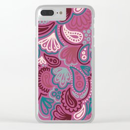 Abstract Batik Pattern II Clear iPhone Case