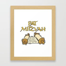 Bat Mitzvah with Scroll  Framed Art Print
