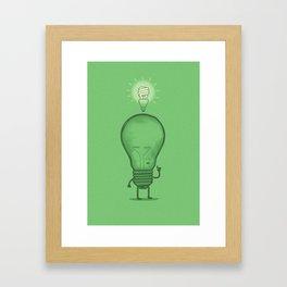 Think Efficiently! Framed Art Print