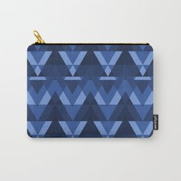 Geometric - Blue Carry-All Pouch
