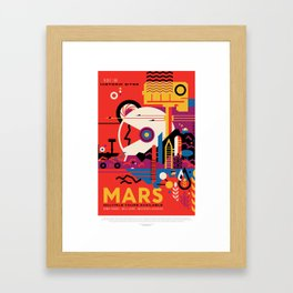 Retro Mars Vacation Ad from NASA Framed Art Print
