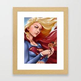 Supergirl Framed Art Print