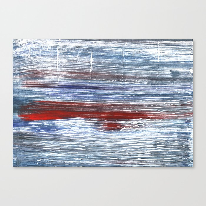 Blue red watercolor Canvas Print