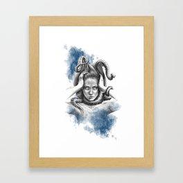 Nothing kills me like my mind Framed Art Print