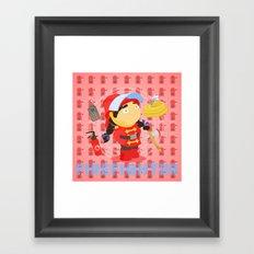 Firefighter Framed Art Print