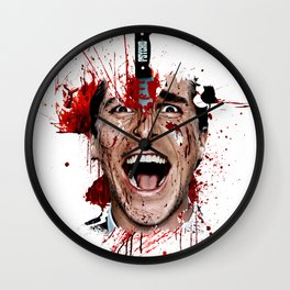American Psycho Patrick Bateman serial killer digital artwork Wall Clock