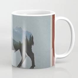Wyoming Bison Flag Coffee Mug