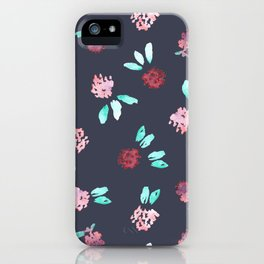 Clover Flowers Pattern on Grey iPhone Case