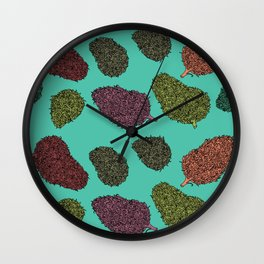 420 Nug Pattern Wall Clock