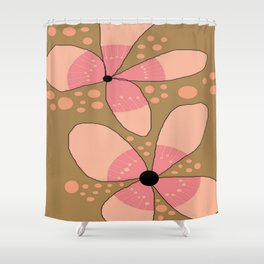FLOWERY FLORA / ORIGINAL DANISH DESIGN bykazandholly Shower Curtain