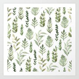 Watercolor leaves Kunstdrucke